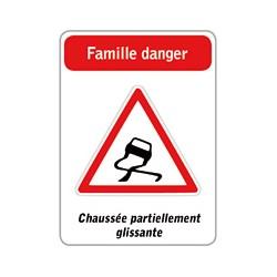 Jeu de 5 familles de panneaux de signalisation routière