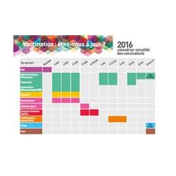 Carte postale du calendrier simplifié des vaccinations 2016 - Vaccination, êtes-vous à jour?