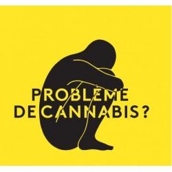Problème de cannabis ? Carte mémo jaune.