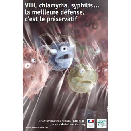 VIH, chlamydia, syphilis... la meilleure défense, c'est le préservatif