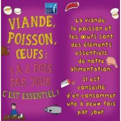 Fiche Conseil 3 - Viande, poisson, œufs : 1 à 2 fois par jour c'est essentiel !