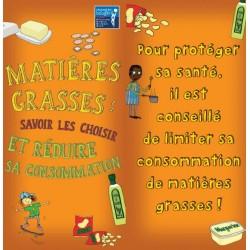 Fiche Conseil 7 - Matières grasses : savoir les choisir et réduire sa consommation