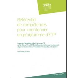Référentiel de compétences pour coordonner l'éducation thérapeutique du patient dans le cadre d'un programme