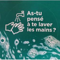 As-tu pensé à te laver les mains ? ( Lot 3 Autocollant)