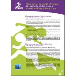 Promouvoir l'activité physique des enfants et des jeunes à partir de l'expérience Icaps (Dépliant)