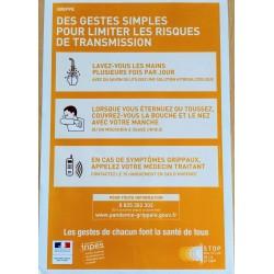 GRIPPE Des gestes simples pour limiter les risques de transmission (Affiche)