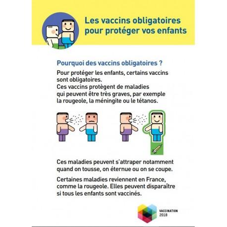 [DEPLIANT] Les vaccins obligatoires pour protéger les enfants