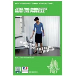 Virus respiratoires...Jetez vos mouchoirs dans une poubelle (Affiche)