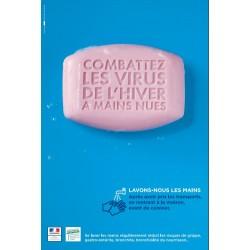 Combattez les virus de l'hiver à main nues (Affiche)