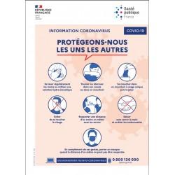 Information coronavirus : protégeons-nous les uns les autres [Affiche A3]