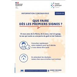 Information Coronavirus : Que faire dès les premiers signes (A4)