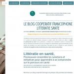 Le blog coopératif francophone littératie santé