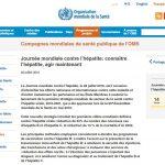 Jeudi 28 juillet 2016 : Journée mondiale contre l'hépatite