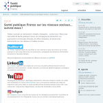 [Santé publique France] sur les réseaux sociaux