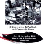 [15 et 16 novembre 2018] XIèmes Journées de Psychiatrie et de Psychologie Clinique