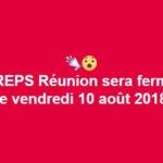 [IMPORTANT] L'IREPS Réunion sera fermée le vendredi 10 août 2018