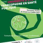 [30 juin au 5 juillet 2019] 16ème université d'été francophone en santé publique