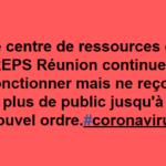 [IREPS Réunion] Le centre de ressources ne reçoit plus de public